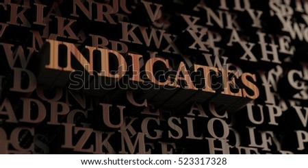 Indicates - Wooden 3D rendered letters/message.  Can be used for an online banner ad or a print postcard.