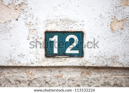 indicative number of house placed in the front - stock photo