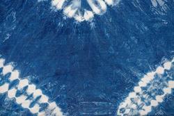 Indigo blue tie dye pattern abstract background