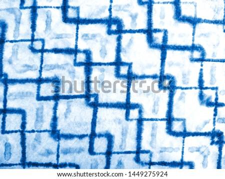 Indigo blue watercolor dirty art background. Grunge artistic canvas. Rough paper texture. Blue indigo ink painting. Contemporary watercolor art. Artwork fragment.