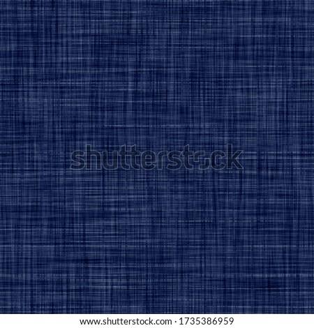 Indigo blue woven boro cotton dyed effect texture background. Seamless japanese repeat batik pattern swatch. Wrinkled distressed tie dye bleach. Asian fusion allover kimono textile. Worn cloth print Foto d'archivio ©