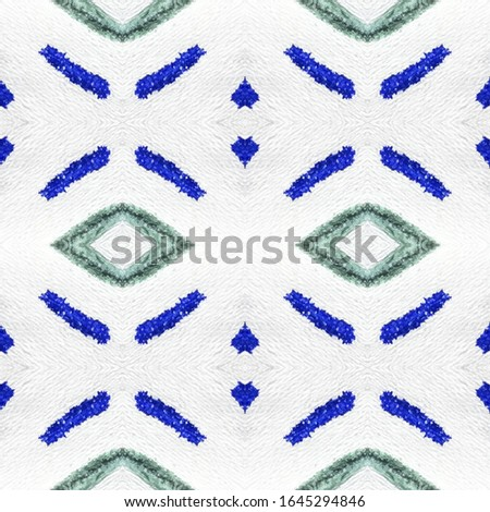 Indigo Endless Material. Endless Tiled Design. Monochrome Painted Template. Turkish Active Texture. Abstract Stains. Monochrome Watercolor Illustration.
