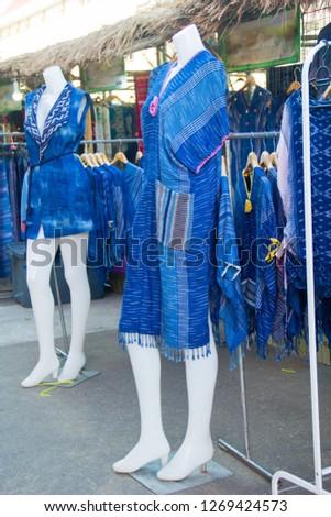 INDIGO,Indigo and puppets, Indigo cloth in the puppet #1269424573