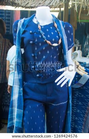 INDIGO,Indigo and puppets, Indigo cloth in the puppet #1269424576