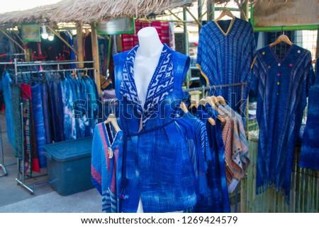 INDIGO,Indigo and puppets, Indigo cloth in the puppet #1269424579