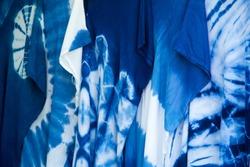 INDIGO,Indigo product,Indigo fabric with beautiful patterns,The pattern of indigo cloth which is unique to Thailand