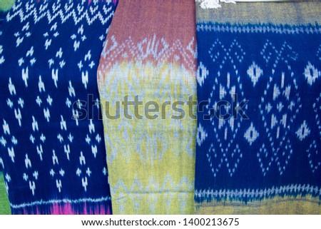 INDIGO,Indigo product,Indigo fabric with beautiful patterns,The pattern of indigo cloth which is unique to Thailand #1400213675