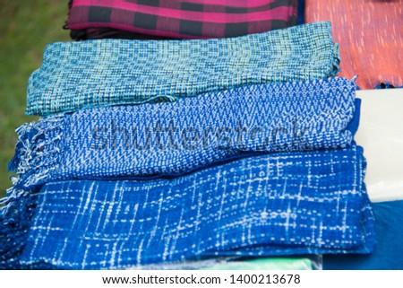 INDIGO,Indigo product,Indigo fabric with beautiful patterns,The pattern of indigo cloth which is unique to Thailand #1400213678
