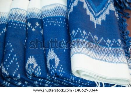 INDIGO,Indigo product,Indigo fabric with beautiful patterns,The pattern of indigo cloth which is unique to Thailand #1406298344