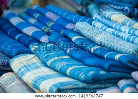INDIGO,Indigo product,Indigo fabric with beautiful patterns,The pattern of indigo cloth which is unique to Thailand #1419566747
