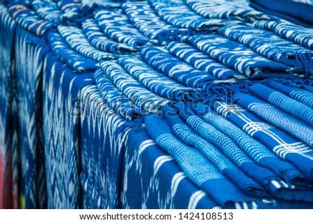 INDIGO,Indigo product,Indigo fabric with beautiful patterns,The pattern of indigo cloth which is unique to Thailand #1424108513