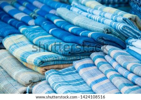 INDIGO,Indigo product,Indigo fabric with beautiful patterns,The pattern of indigo cloth which is unique to Thailand #1424108516