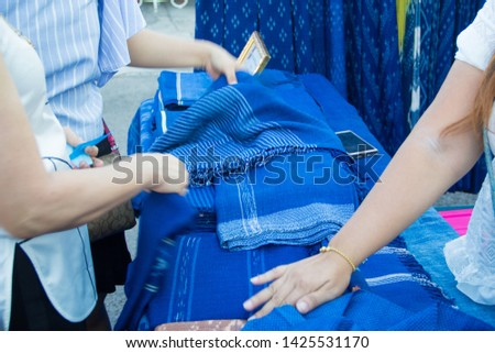 INDIGO,Indigo product,Indigo fabric with beautiful patterns,The pattern of indigo cloth which is unique to Thailand #1425531170