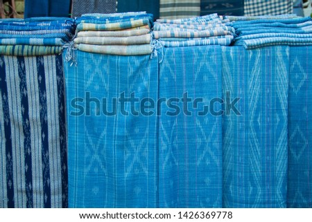 INDIGO,Indigo product,Indigo fabric with beautiful patterns,The pattern of indigo cloth which is unique to Thailand #1426369778