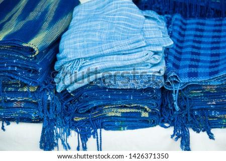 INDIGO,Indigo product,Indigo fabric with beautiful patterns,The pattern of indigo cloth which is unique to Thailand #1426371350