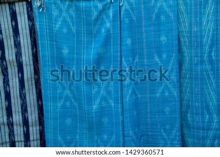 INDIGO,Indigo product,Indigo fabric with beautiful patterns,The pattern of indigo cloth which is unique to Thailand #1429360571