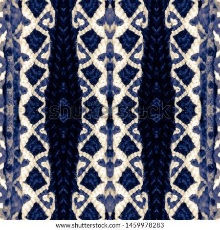 Indigo seamless ethnic tiles. Blue Ikat spanish tile pattern. Italian majolica. Mexican puebla talavera. Decorative monochrome tile pattern design.Tiled texture for kitchen,bathroom flooring ceramic.