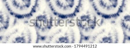 Indigo Tie Dye. Spiral Brush Circle. Dirty Indigo Mandala. Spiral Dyed Batik. Hippie Seamless Batik. Blue Swirl Seventies. Japanese Pastel Pattern. Shibori Shirt Pattern. Indigo Old Background