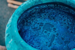 Indigo water, Indigo plant fermentation in clay pot