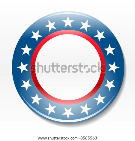 Individual blank election campaign badge icon graphic