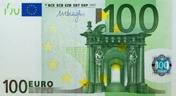 individual details of the European Union's Euro cash, with a face value of one hundred euros