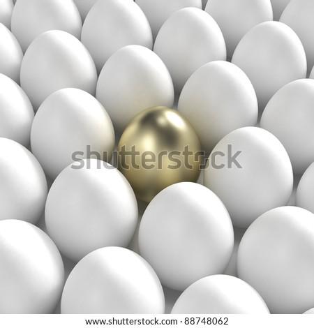 Individuality: golden egg among usual white eggs