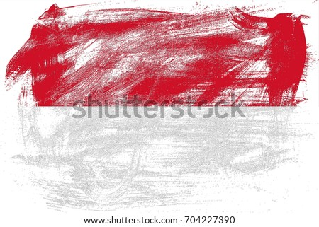 Indonesia flag grunge background. Background for design in country flag