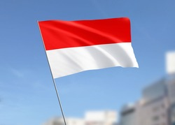 Indonesia Flag Wave in the Sky