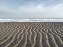 Indonesia, Kebumen, 22 June 2020, very clean beachside sand