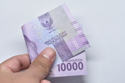Indonesia Money Rupiah, Indonesia Currency, Background Money Indonesia, 10 thousand rupiah, ten thousand rupiah, 10.000 rupiah, blue money.