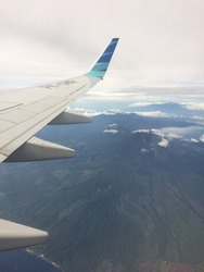 Indonesia Mountains taken from Garuda Indonesia Airlines