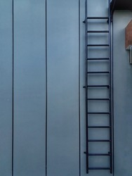 Indonesia • September, 7 2021 : Photo of a staircase that has a symmetrical line with a wall design.