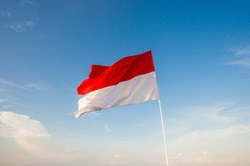 Indonesian Flag, The Red and white Flag, national symbol of Indonesia.