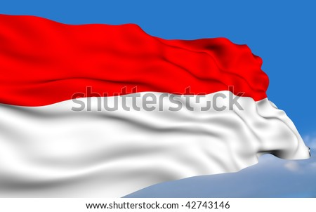 indonesian flag. stock photo : Indonesian flag