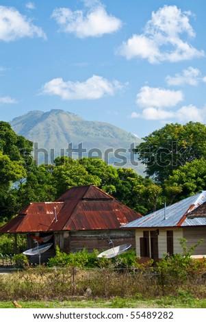 Indonesian rural landscape