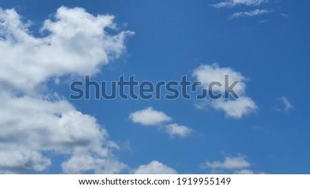 Indonesian sunny amazing blue sky
