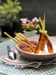 Indonesian tradisional food from Bali - sate lilit