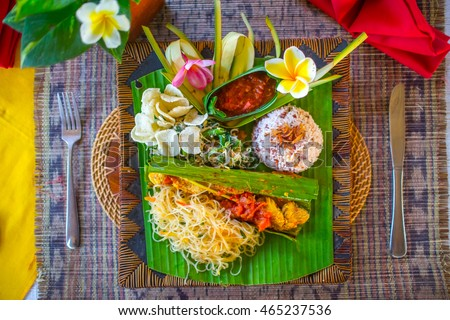 Indonesian traditional bali food