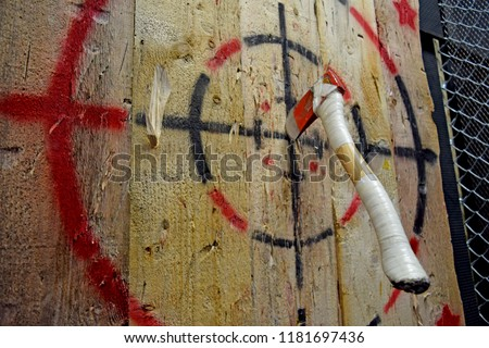 Indoor axe throwing hall for recreation, competition, leagues and team building.