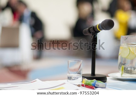 Indoor business conference for managers. - stock photo