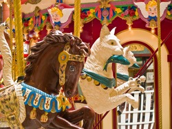 Indoor Carousel at the Seaside Mall in Oregon