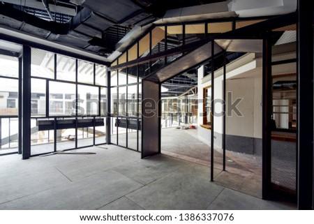 Indoor construction site under renovation #1386337076