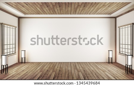 indoor empty room japan style. 3D rendering