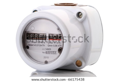 Indoor gas meter used for measuring natural gas consumption in buildings / houses.