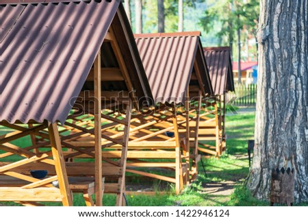 Indoor gazebos for cooking and outdoor recreation at the recreation center #1422946124