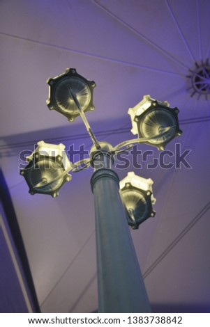 indoor lights - indoor light poles with a calm and pleasant atmosphere