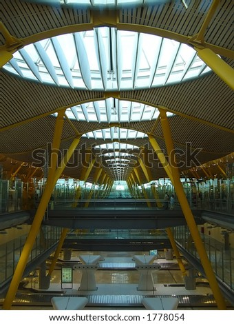 indoor modern airport architecture detail #1778054