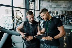 Indoor personal cardio training in gym