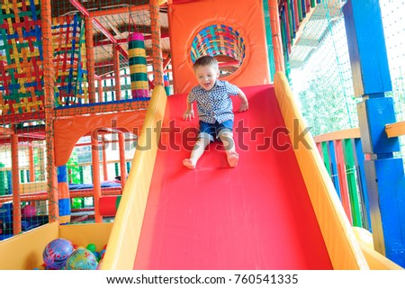 Indoor playground with colorful plastic balls for children #760541335