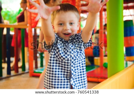 Indoor playground with colorful plastic balls for children #760541338